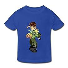 Kids Toddler Ben10 Cartoon Little Boy's Girl's T Shirt RoyalBlue Size 4 Toddler