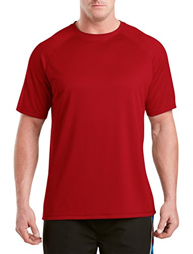 Harbor Bay Big & Tall Swim Rash Guard (5XL, Red)