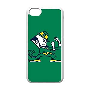 Notre Dame Fighting Irish iPhone 5c Cell Phone Case White DIY Gift zhm004_0454507
