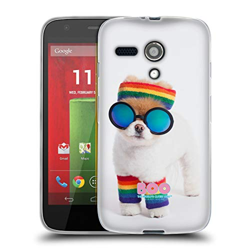 Official Boo-The World's Cutest Dog Rasta Portraits Soft Gel Case Compatible for Motorola Moto G (1st Gen) (Motorola Moto G Case Rasta)