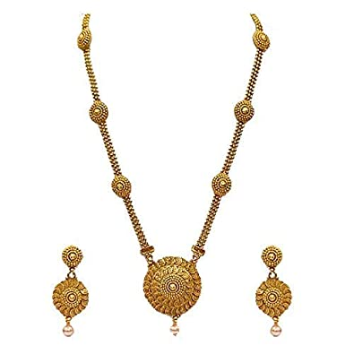 c44f7d876d9 Buy Lookethnic Gold Plated Long Necklace Set For Women Online at Low Prices  in India
