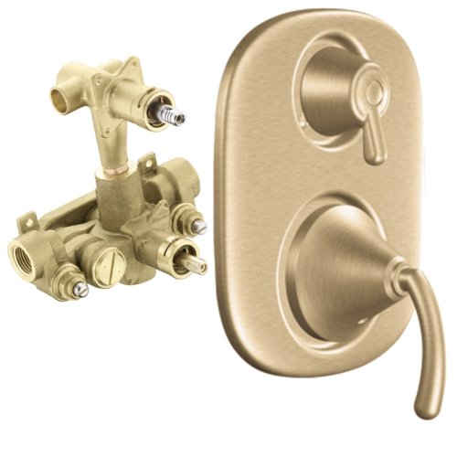 Moen T4112BB-3330 I Icon Moentrol Valve Trim Kit with Lever Handle and Valve, Brushed ()