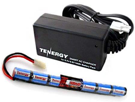 Combo: Tenergy 8.4V 1600mAh Stick Mini NiMH Battery Pack+ 8.4V-9.6V NiMH Smart Charger