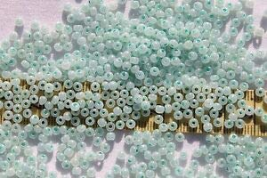 8/0 Vintage Czech Light Pearl Blue Glass Seed Beads Loose 1oz Spacer Beads and Roll Crystal String for Bracelets Jewelry Making