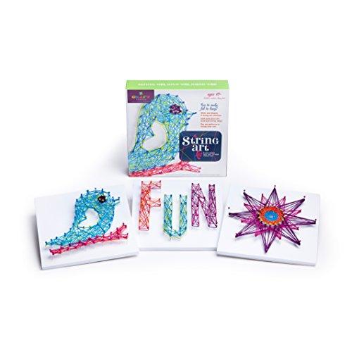 41nA4hIE%2BTL - Ann Williams Group Craft-tastic String Art Kit III - Craft Kit Makes 3 Large String Art Canvases