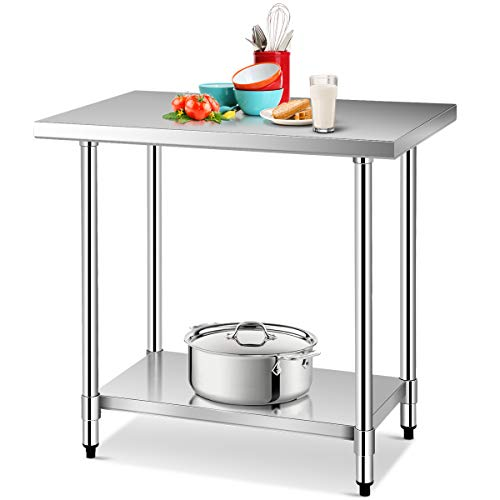 Giantex 24 X 36 Stainless Steel Commercial Kitchen Work Food Prep Table