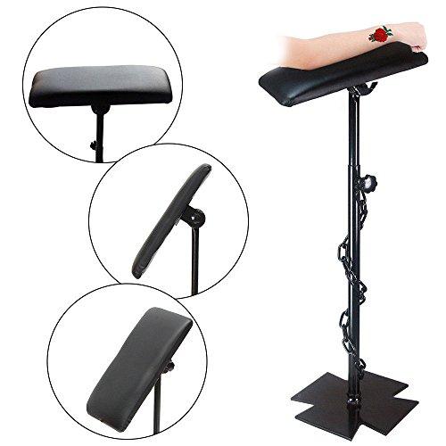 Black Tattoo Salon Heavy Duty Iron Tattoo Full Adjustable Armrest Leg Rest 68-100cm PU Leather from TFCFL