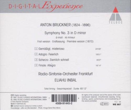 Frankfurt Radio Symphony Orchestra Anton Bruckner Eliahu Inbal