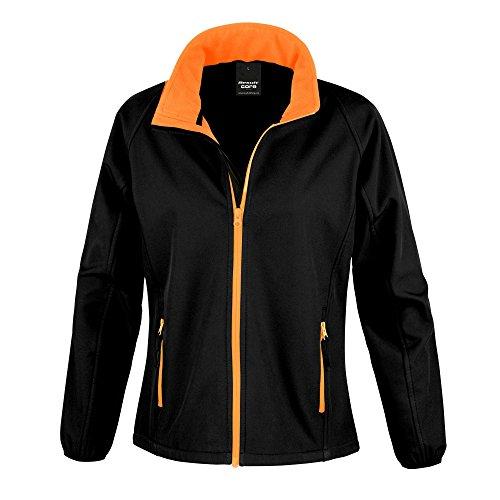 Giacca Donna Core arancione Result Softshell Nero YWfUwnB
