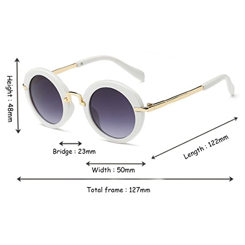 Protección Frame Glasses Round Sunglasses Sun Sun Eyes UV New Blanco Children's Aiweijia Fashion OB6A4A