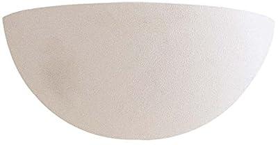 Minka Lavery Wall Sconce Lighting 350, White Ceramic Wall Lamp Fixture, 1 Light, 100 Watts, White
