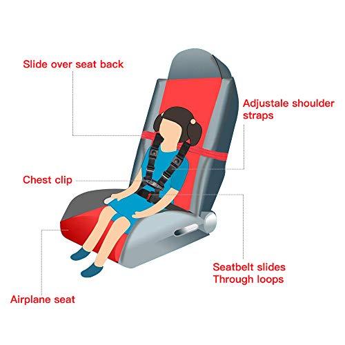 Child Airplane Safety Travel Harness, Clip Strap Safety Airplane Child Restraint System for Baby,Toddlers & Kids - Airplane Travel Accessories for Aviation Travel Use by MASCARRY (Image #3)
