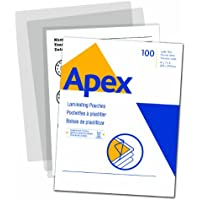 Apex Standard Laminating Pouches, Letter Size for 3 Mil Setting, 100 Pack (5242601)