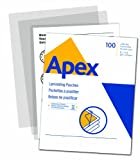 Apex Standard Laminating Pouches, Letter Size for 3 Mil Setting, 100 Pack