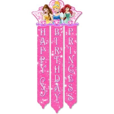 Disney Princess Royal Event Birthday Banner -