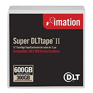 Imation Black Watch Super DLTtape 2 Cartridge 300/600GB - Cinta virgen (SDLT, 600 GB, 1000000 Pasos, 36 MB/s, 72 MB/s, Azul)