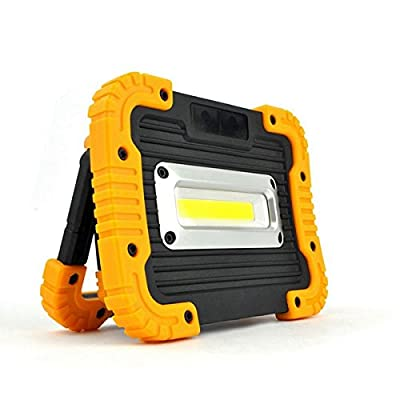 Portable 10W COB LED Rechargeable Camping Lantern Emergency Work Light for Outdoor Hiking Fishing (Red)
