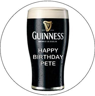Strange 7 5 Guinness Pint Personalised Edible Icing Birthday Cake Topper Birthday Cards Printable Benkemecafe Filternl