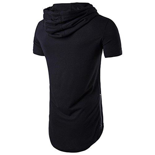 170ede0b09a vermers Deals Fashion Tops for Men - Hipster Hip Hop Hoodie Side Zipper T  Shirts