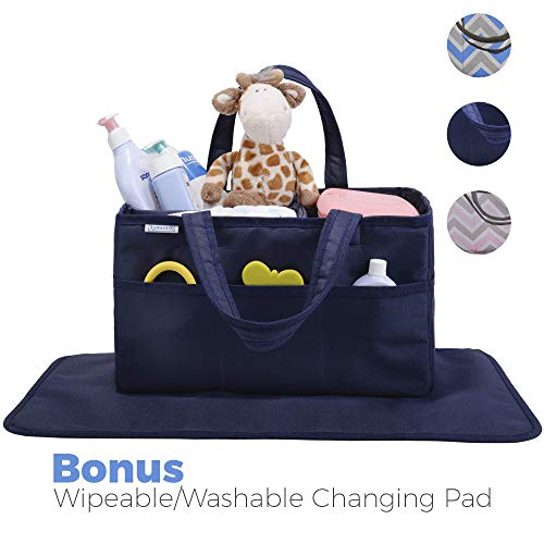 Diaper Caddy, Nursery Organizer: Best Navy Blue Portable Was