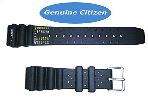 59-L7404 Original Citizen Aqualand Black Rubber Watch Band For Men's Dive Watch AY5020-08E, AY5020-08X, AY5024-07W, AY5024-07X, AP0440-06H, (Dive Band)