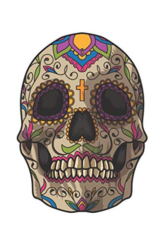 Sugar Skull Decoration: Blank Sketch Paper Notebook with frame for Day Of The Dead Lovers]()