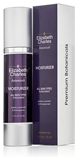 Elizabeth Charles - Organic Facial Moisturizer with Hyaluronic Acid Face Cream For All Skin Types with Vitamin E and Green Tea 1.7 oz (Morning Tea Miracle)