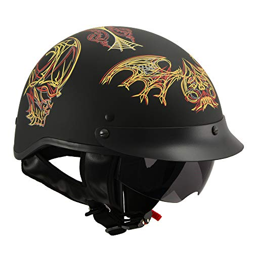 Milwaukee Performance Helmets Men's Size half helmet MAT BLACK XL