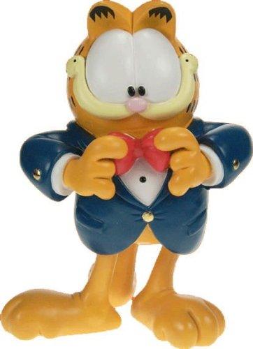 Garfield resina estatuilla figura decorativa pintada a mano con esmoquin 5edc62b876