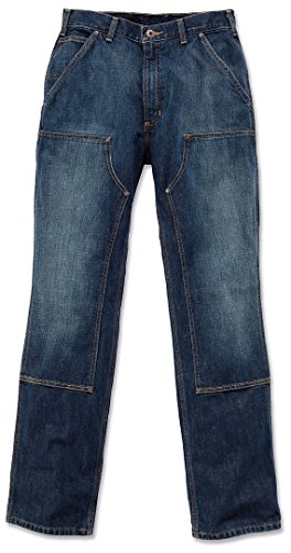 Front Carhartt Logger Hose Indigo Rinsed Jeans Double pwqOw7