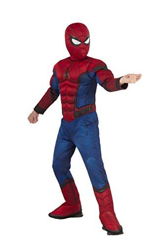 Spirit Halloween Kids' Spiderman Costume Deluxe - Marvel Civil War, S, Red, S, Red
