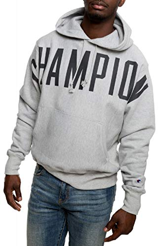 Champion Men's Reverse Weave Pullover Hoodie (XX-Large, Oversized Arch Logo Oxford Gray)