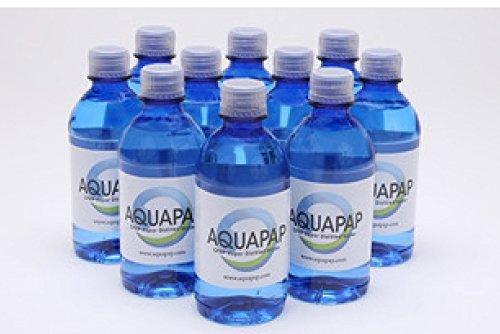 AQUAPAP Vapor Distilled CPAP Water 10 x 12 ounce Bottles