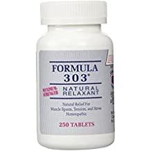Formula 303 Maximum Strength Natural Relaxant 250 Tablets by DEE LEE