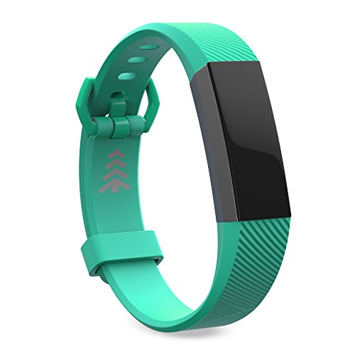 Steel Wristband Bracelet Strap Fitness Monitor Black - 6