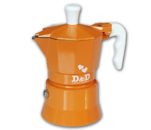 D & Cafetera de Espresso 1 Taza de Naranja: Amazon.es: Hogar