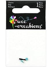 Wee Creations 1-Piece High Heel Charm, Silver/Black/Blue