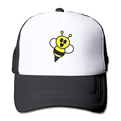 HIPGCC Little Bumble Bee Toddler Women's&Man Unisex Washed Trucker Cap Adjustable Strapback Black (Bee Bumble Cap Toddler)