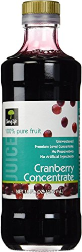 Life Tree Juice Concentrate, Unsweetened Cranberry, 16 Ounce- Pack of 3 bottles