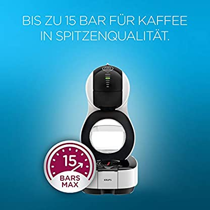 Krups KP1301 Nescafé Dolce Gusto Lumio Kapsel Kaffeemaschine, weiß, 1,0 l 3