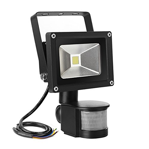 10w super bright motion sensor flood light outdoor led flood lights. Black Bedroom Furniture Sets. Home Design Ideas