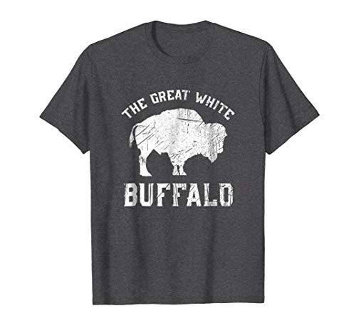 Mens The Great White Buffalo T-Shirt Native American Inspired 2XL Dark ()