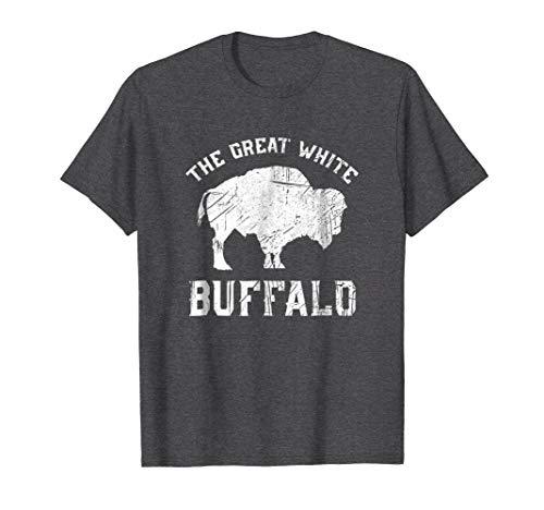 Mens The Great White Buffalo T-Shirt Native American Inspired 2XL Dark Heather -