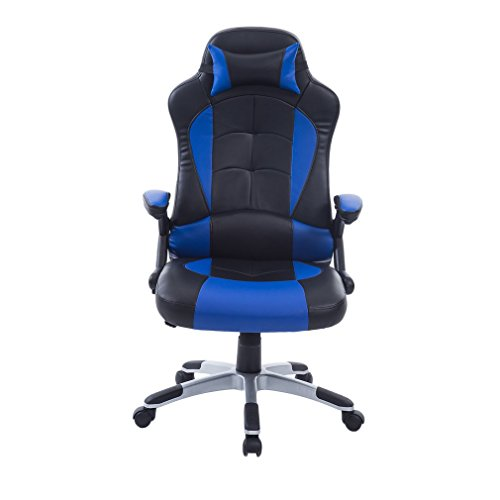 41nAD9RQKZL - Homgrace Ergonomic Racing Car Gaming Chair High-back Executive Swivel Leather with Headrest and Lumbar Support