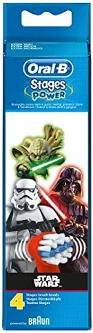 Oral-B Stages Star Wars-Aufsteckbürsten für elektrische Zahnbürste, 4 Stück
