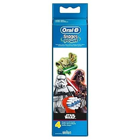 Oral-B Stages Star Wars Cabezales de cepillo de dientes eléctrico 4: Amazon.es: Salud y cuidado personal