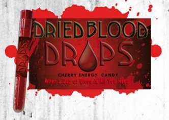 Dried Blood Caffeinated Energy Candy