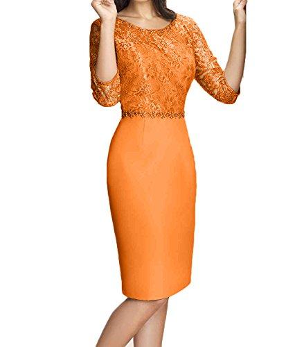 Charmant Damen Elegant Orange Chiffon Abendkleider ...