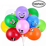 Aolvo Instant Water Balloons 12 Inch Colorful Thickened Matt Funny Emoji Balloons (Random Colors)