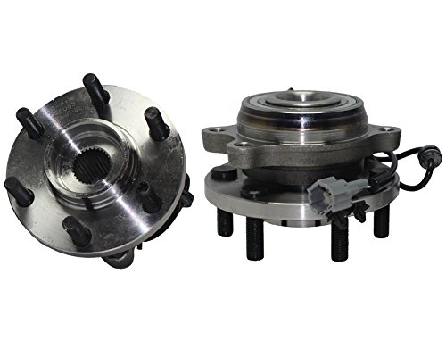Brand New (Both) Front 4x4 Wheel Hub and Bearing Assembly Set for Equator, Frontier, Pathfinder, Xterra 4x4 6 Lug w/ABS